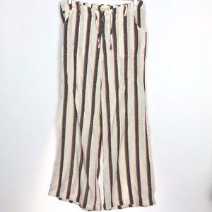 Just Living Loose Fit Linen Blend Pants Boho L